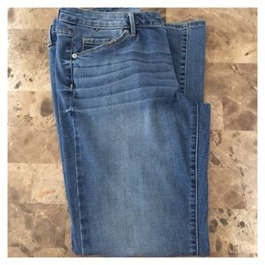 Mossimo Mid Rise Straight Leg Blue Jeans Size 12S